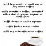 Ways of taking an Italian coffee