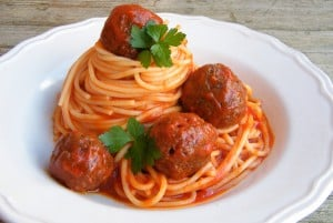 Mom's Spaghetti and Meatballs
