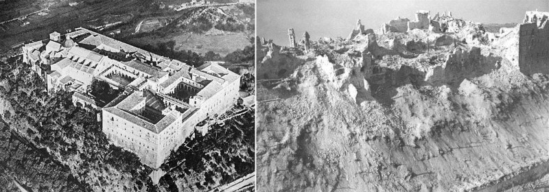 monte-cassino-before-and-after-bombing-in-1944